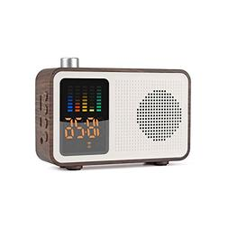YSEECHENS Retro Portable Bluetooth Speaker FM Radio Alarm Cl