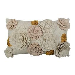 King Rose 3D Stereo Floral Solid Wool Cushion Cover for Sofa
