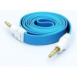 Samsung Galaxy Note 5 Compatible Blue Flat Aux Cable Car Ste