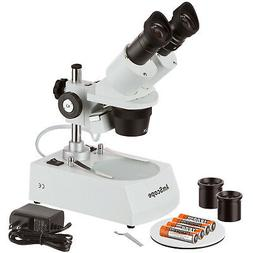 AmScope Cordless LED Stereo Microscope 20x-40x-80x