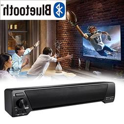 Sound Bar,3D Portable Strip Shaped Stereo Bluetooth Home The