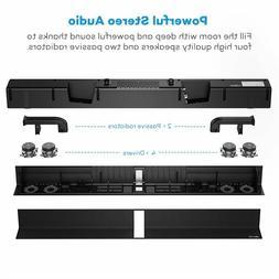 Soundbar, TaoTronics Sound Bar Wired and Wireless Bluetooth