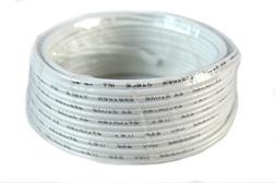 22 Gauge 25 Feet White Speaker Wire Zip Cable Copper Clad Ca