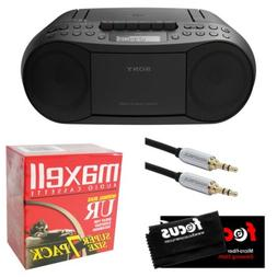 Sony Stereo CD/Cassette Boombox Home Audio Radio, Black  Bun