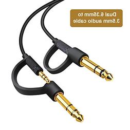 """Stereo Replacement Unimatch plug 1/4"""" and 1/8"""" Premium Auxil"""
