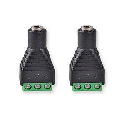 HTTX 3.5mm Stereo TRS Female Socket to AV Screw Terminal Blo