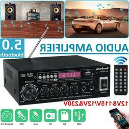 Sunbuck 2000W bluetooth Car Amplifier Home Stereo Audio 2 Ch