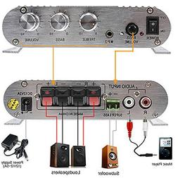 SUPER BASS Amplifier LP-838 12V Smart Mini Stereo Audio Ampl