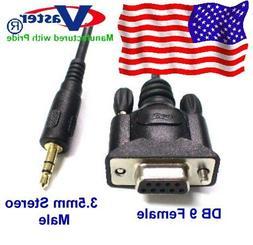 SuperE - 20212 - RS232 DB 9 Female to Stereo 3.5mm Plug Shie