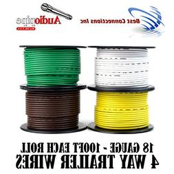 Trailer Wire Light Cable for Harness 4 Way Cord 18 Gauge - 1