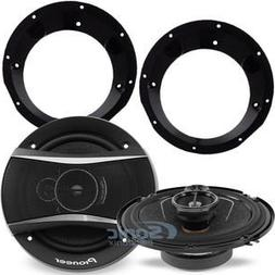 Pioneer TS-A1676R Speakers w/ Adapters For Select 1998-2013