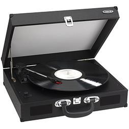 Vinyl Record Players, Black Player Modern Small Portable Tur