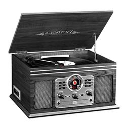 3 Speed Turntable Record Player Classic Wooden Bluetooth 6-i