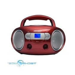 TOSHIBA TY-CRS9 PORTABLE CD BOOMBOX WITH AM/FM STEREO AND AU