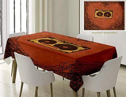 Unique Custom Cotton and Linen Blend Tablecloth Music Decor