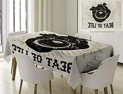 Unique Custom Cotton And Linen Blend Tablecloth Vintage Beat