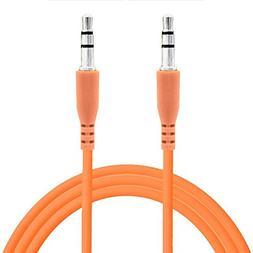 Universal Orange Color 3.5mm Auxiliary Stereo Mini Port Aux