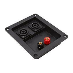 uxcell Universal Rectangle Audio Speaker Binding 2 Terminals