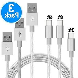 Ankoe USB Type C Cable, 3 Pack  Nylon Braided USB A to USB C