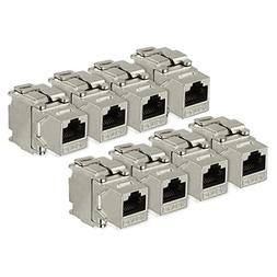 uxcell 8 Pack, 180 Degree Cat 6A RJ45 Ethernet Cable Keyston