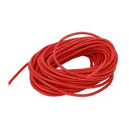 uxcell 9 Meters Long 24AWG 10KV Red Flexible Stranded Copper