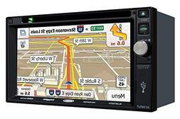 "Jensen VX7022 2 DIN Multimedia Receiver, 6.2"" Touch Screen w"