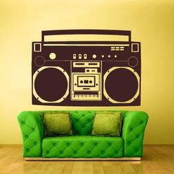 Wall Decal Vinyl Decal Sticker Decals Boombox Stereo Tape Au