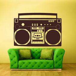 Wall Decal Vinyl Sticker Decals Boombox Stereo Tape Audio Re