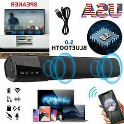 Wireless Bluetooth Sound Bar Speaker Super Bass Stereo Home