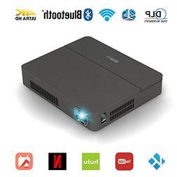 Wireless 3D DLP Projector 4K Bluetooth 4.0 Dual WiFi Airplay