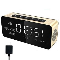 Soundance Alarm Clock Radio - with FM Radio, Wireless Speake